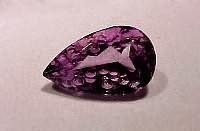 Carved Amethyst Pear Shape