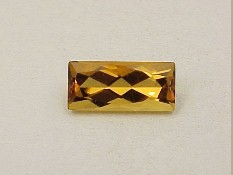 Golden Citrine Rectangle/baguette