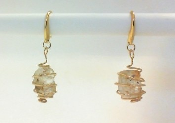 Mason County Texas topaz nugget earrings