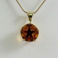Lone Star Cut Citrine Pendant