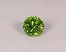 Fine peridot cut in Texas Lone Star Cut