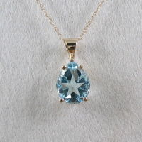 Lone Star in Pear Shape Pendant