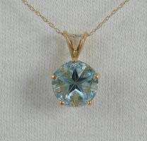 Sky blue topaz Lone Star Cut
