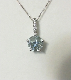 Blue Mason County topaz 7mm pendant