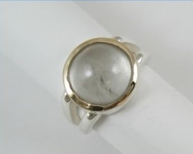Mason Count topaz round cabochon ring.