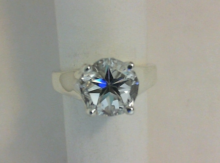 Mason County Texas Lone Star Cut topaz in solitaire ring