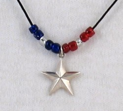 Lone Star charm in sterling silver